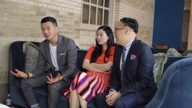 Crazy Rich Asian cast sits down with The Local Lense