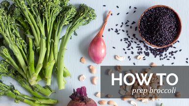 How to : Prep broccoli