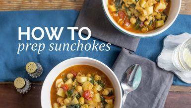 How to : Prep sunchokes